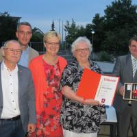 Jubilare und Neumitglieder beim 110 jährigen Jubiläum der SPD-Roßtal